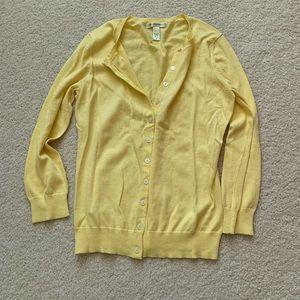 Banana republic size medium yellow cardigan